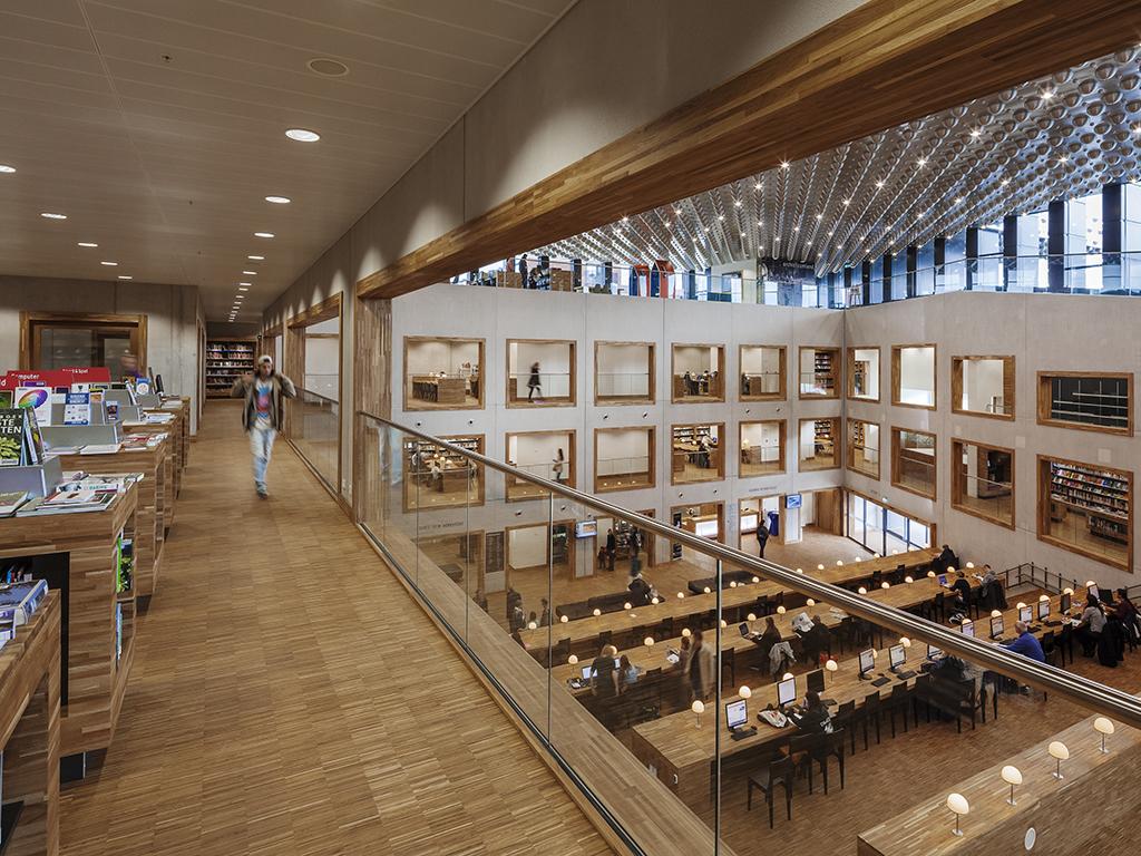 Archidat architectuur projecten eemhuis type architecten - Interieur bibliotheek ...