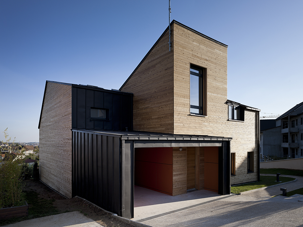 Archidat architectuur projecten maison air et lumiere type projecten - Verriere dak ...