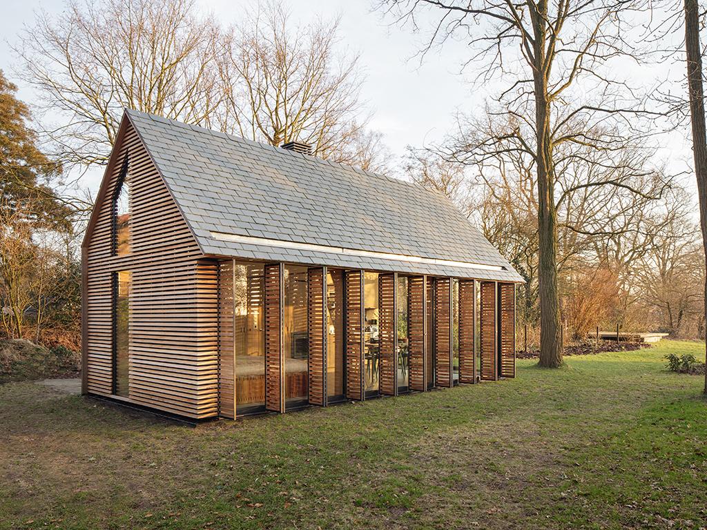 Archidat architectuur projecten recreatiewoning type projecten - Interieur houten huisje ...