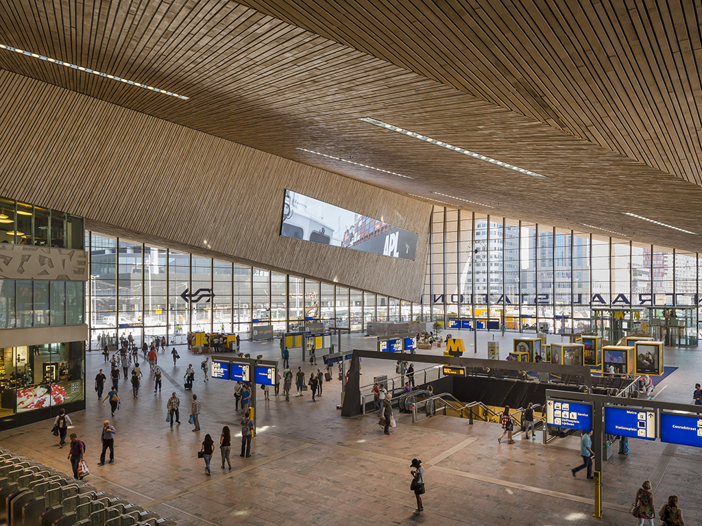 Archidat architectuur projecten rotterdam centraal station type projecten - Hal ingang ontwerp ...